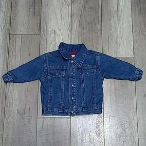 Sesame Street Denim jacket 12 month lined